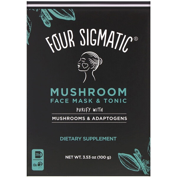 Mushroom Face Mask & Tonic, Purify with Mushrooms & Adaptogens, 3.53 oz (100 g)