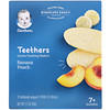 Gerber, Teethers, Gentle Teething Wafers, 7+ Months, Banana Peach, 24 Wafers, 1.7 oz (48 g)