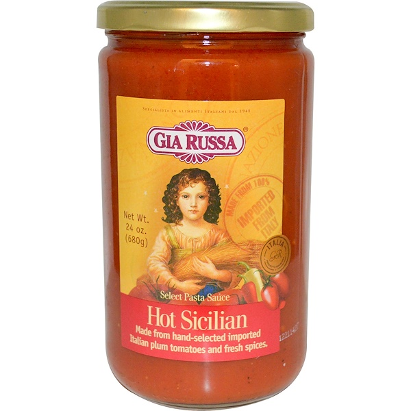Gia Russa, Select Pasta Sauce, Hot Sicilian, 24 oz (680 g) (Discontinued Item)