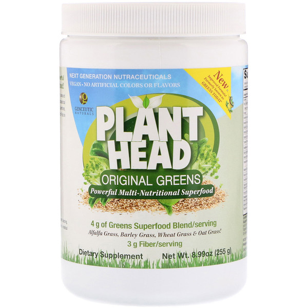 Genceutic Naturals, Plant Head,原绿色,8.99 盎司(255 克) (Discontinued Item)