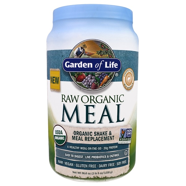 Garden of Life, RAW Organic Meal, Organic Shake & Meal Replacement, 2.28 lbs (1,038 g)