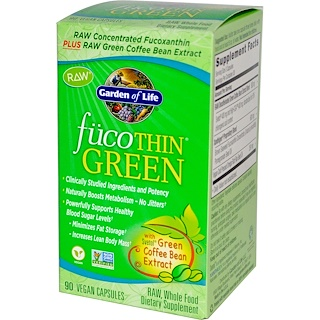 Garden of Life, FucoThin Green, 90 Vegan Caps