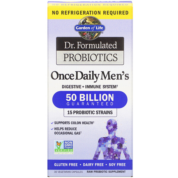 Dr. Formulated Probiotics, Once Daily Men's, 30 Vegetarian Capsules