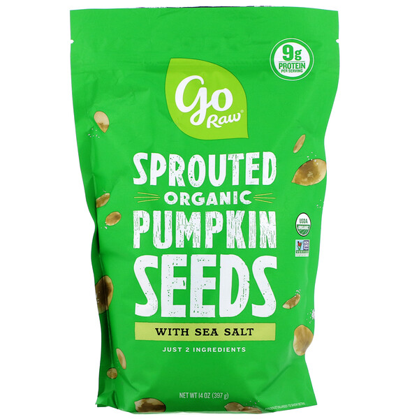 Organic Sprouted Pumpkin Seeds with Sea Salt, 16 oz (454 g)