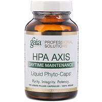 Gaia Herbs Professional Solutions, HPA轴,日间保养,120粒充液胶囊