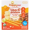 Nurture Inc. (Happy Baby), Happytot, Fiber & Protein Soft- Baked Bar, Organic Bananas & Carrots, 4.4 oz, 5 Bars