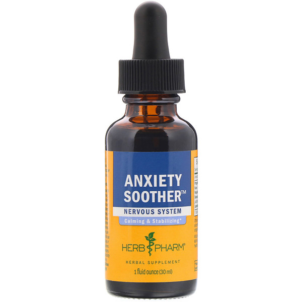 Herb Pharm, Anxiety Soother, 1 fl oz (30 ml)