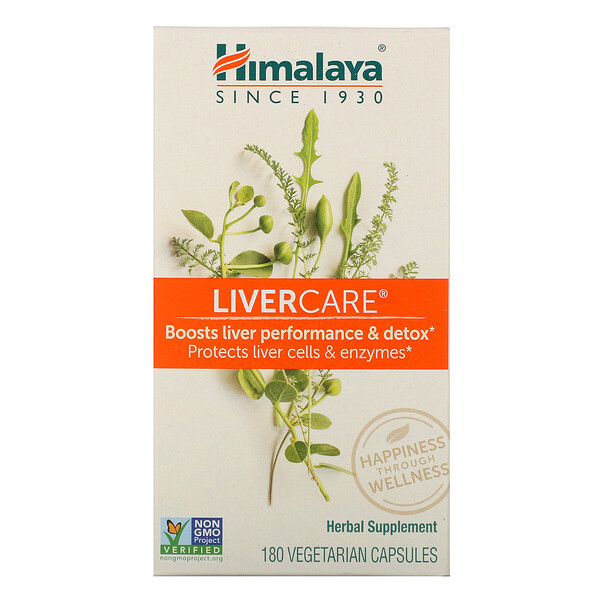 Himalaya, Liver Care,180粒素食胶囊