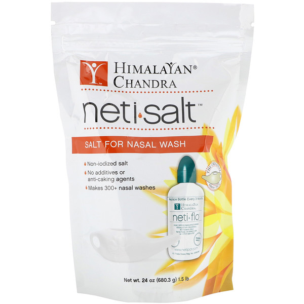 Himalayan Institute, Neti Salt, Salt for Nasal Wash, 1.5 lbs (680.3 g)
