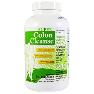 Health Plus Inc., Super Colon Cleanse,500毫克,240粒胶囊