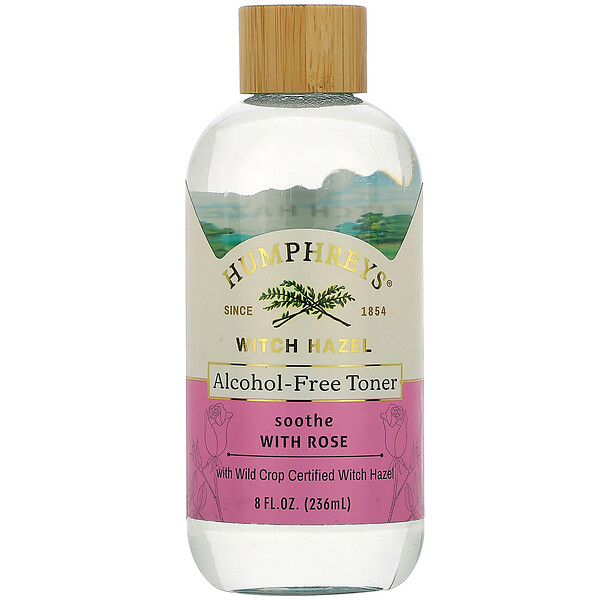 Witch Hazel, Alcohol Free Toner with Rose, Soothe, 8 fl oz (236 ml)