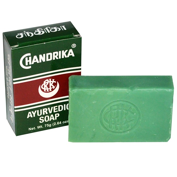 Chandrika Soap, 钱德里卡,阿育吠陀肥皂草本香皂,2.64盎司(75克)