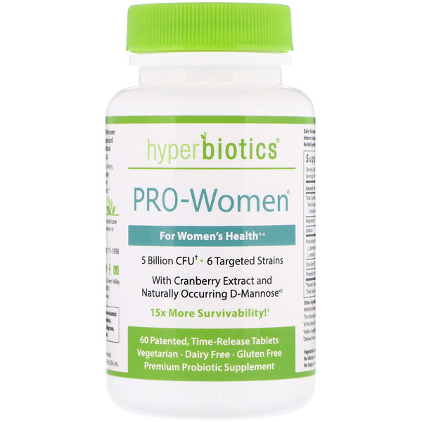 Hyperbiotics, PRO-Women, 5 Billion CFU, 60 Time-Release Tablets