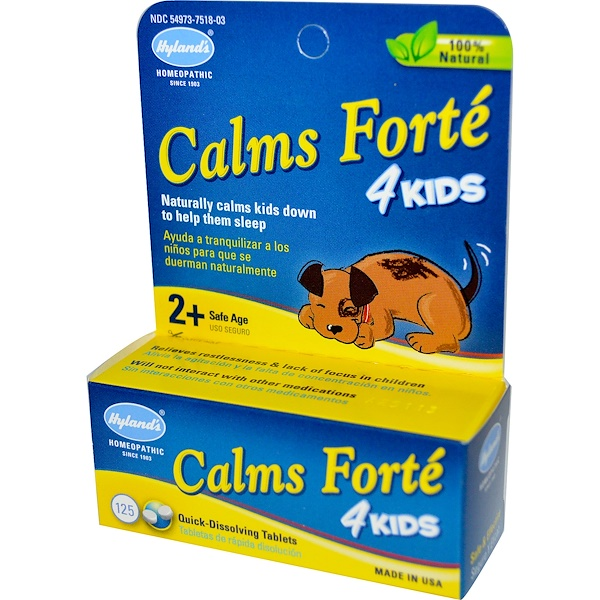 Hyland's, Calms Forte 4 Kids, 125 Quick-Dissolving Tablets (Discontinued Item)