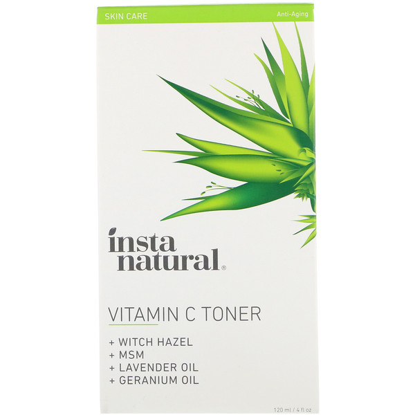 InstaNatural, Vitamin C Facial Toner with Witch Hazel, Alcohol-Free, 4 fl oz (120 ml)
