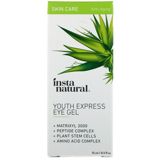 InstaNatural, Youth Express Eye Gel, Anti-Aging, 0.5 fl oz (15 ml)