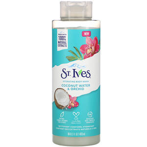 St. Ives, Hydrating Body Wash, Coconut Water & Orchid, 16 fl oz (473 ml)'