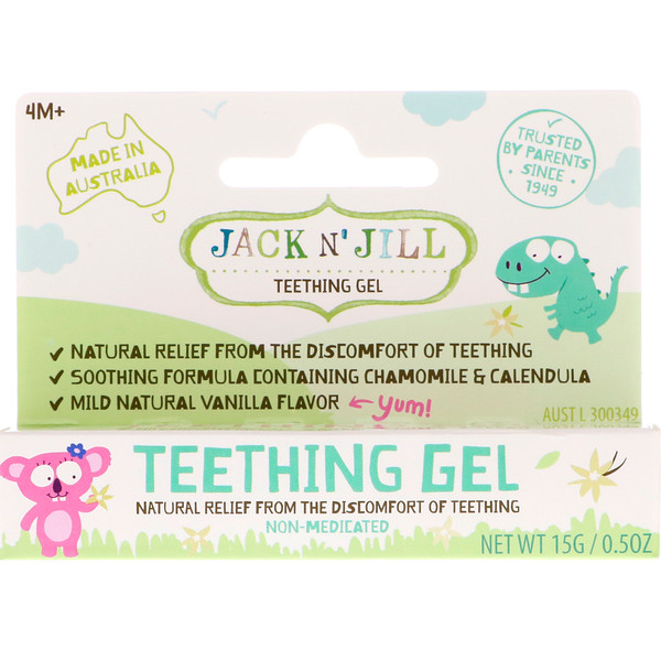Jack n' Jill, Teething Gel, 4+ Months, 0.5 oz (15 g)