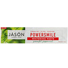 Jason Natural, PowerSmile, 抗牙菌斑美白膏,强力薄荷, 6 盎司 (170 g)