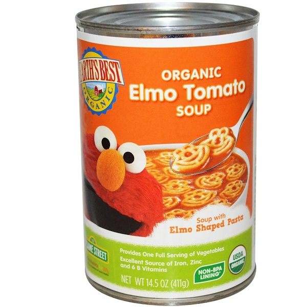 Earth's Best, Organic Elmo Tomato Soup, 14.5 oz (411 g) (Discontinued Item)