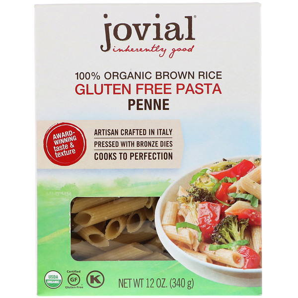 Jovial, 全 Organic Brown Rice Pasta, Penne , 12 oz (340 g)