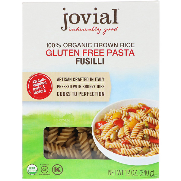 Jovial, 全 Organic Brown Rice Pasta, Fusilli, 12 oz (340 g)