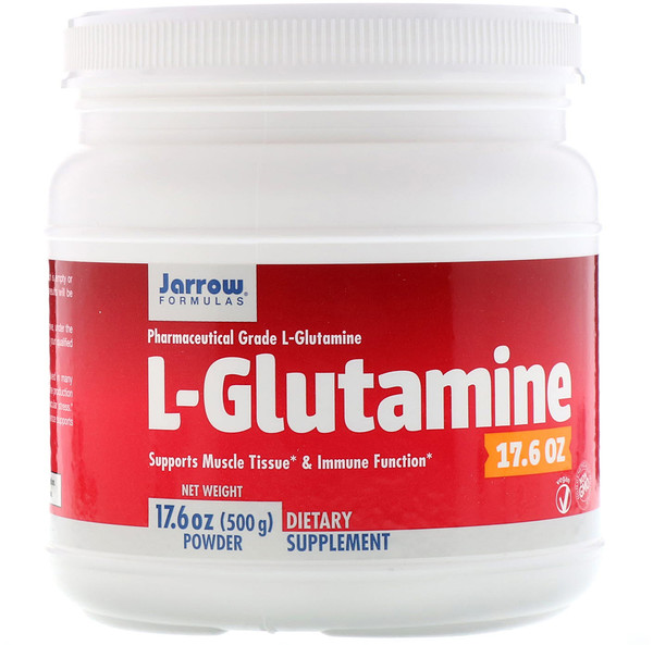 Jarrow Formulas, L-Glutamine Powder, 17.6 oz (500 g)