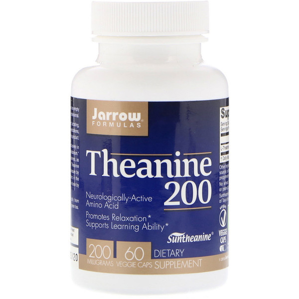 Theanine 200, 200 mg, 60 Veggie Caps