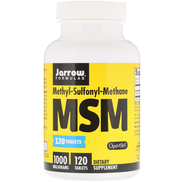 MSM, 1,000 mg, 120 Tablets