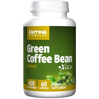 Jarrow Formulas, Green Coffee Bean Extract, 400 mg, 60 素食胶囊