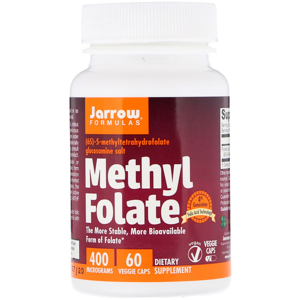 Jarrow Formulas, Methyl Folate, 400 mcg, 60 Veggie Caps