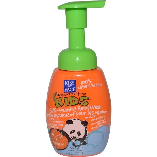Kiss My Face, Kiss My Face 桔子的智慧儿童专用泡沫洗手液, 8 fl oz (236 ml) (Discontinued Item)