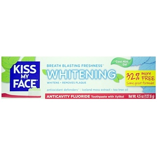 Kiss My Face, Kiss My Face Whitening with Anticavity Fluoride, 4.5 Ounce