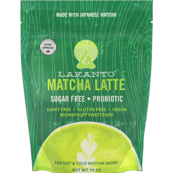Lakanto, Matcha Latte Drink Mix, 10 oz