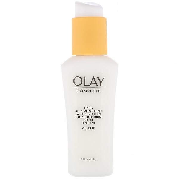 Olay, Complete, UV365 Daily Moisturizer, SPF 30, Sensitive,  2.5 fl oz (75 ml)