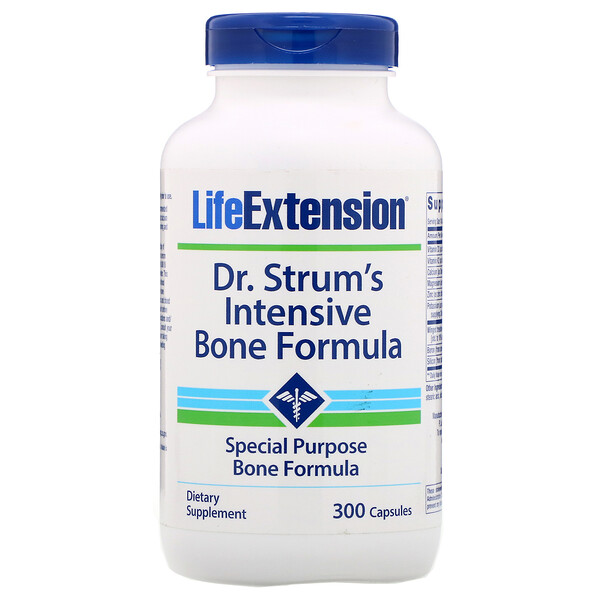 Life Extension, Dr. Strum's Intensive Bone Formula, 300 Capsules