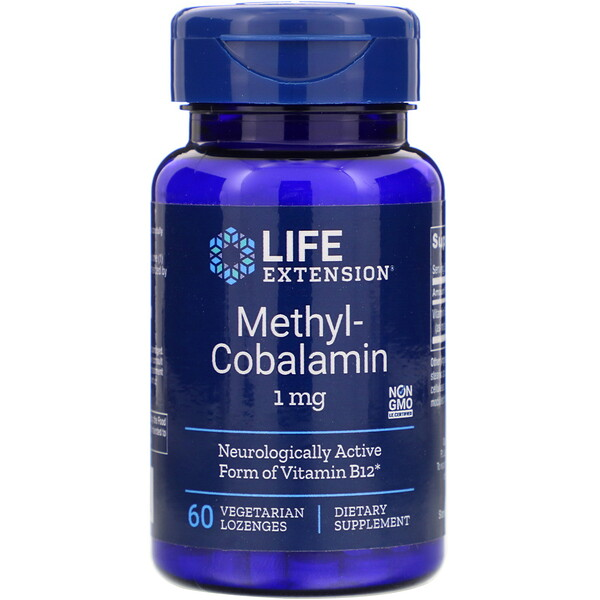 Methylcobalamin, 1 mg, 60 Vegetarian Lozenges