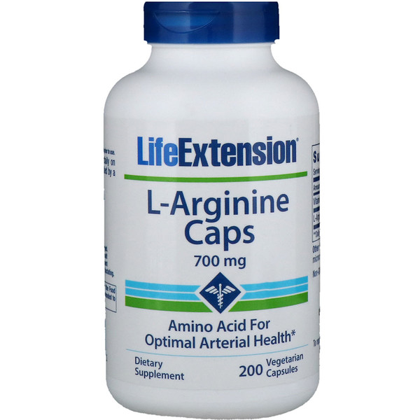 Life Extension, L-Arginine Caps, 700 mg, 200 Vegetarian Capsules
