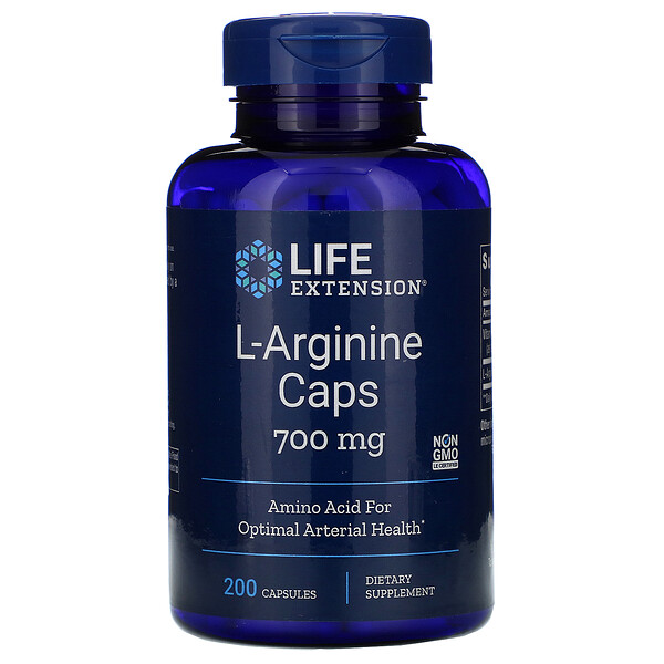 Life Extension, L-Arginine Caps, 700 mg, 200 Capsules