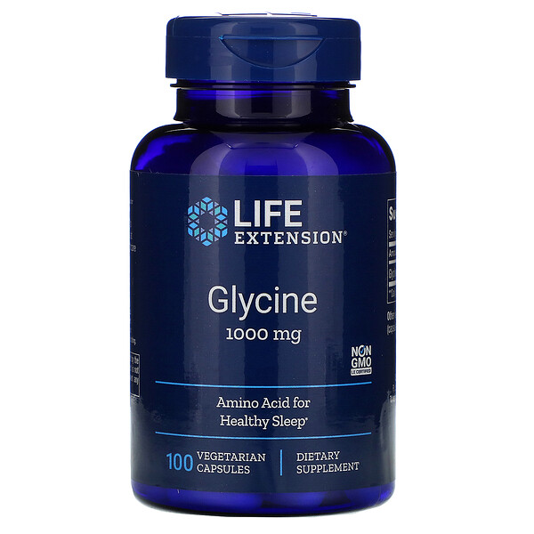 Glycine, 1,000 mg, 100 Vegetarian Capsules