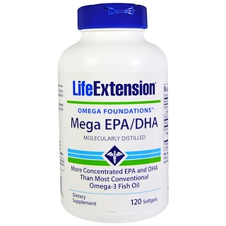 Life Extension, Omega Foundations,EPA/DHA 软件,120 粒