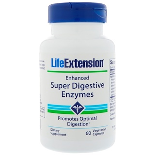 Life Extension, Enhanced Super Digestive Enzymes, 60 Vegetarian Capsules