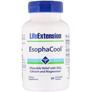Life Extension, EsophaCool,60 片咀嚼片