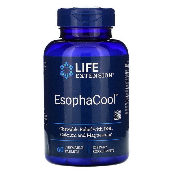 EsophaCool,60 粒咀嚼片
