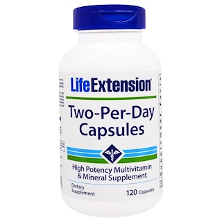 Life Extension, Two-Per-Day胶囊,120粒
