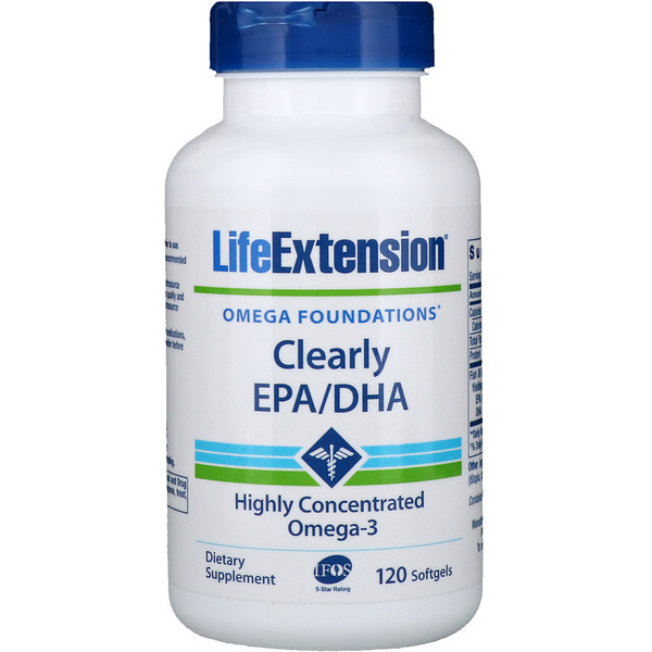 Life Extension, Clearly EPA/DHA,120粒软胶囊 (Discontinued Item)