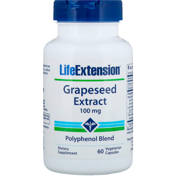 Grapeseed Extract, 100 mg, 60 Vegetarian Capsules