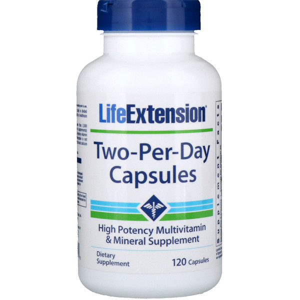 Life Extension, Two-Per-Day胶囊,120粒 (Discontinued Item)