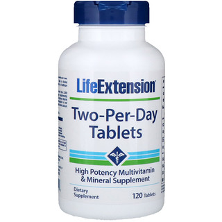 Life Extension, Two-Per-Day片剂,120片