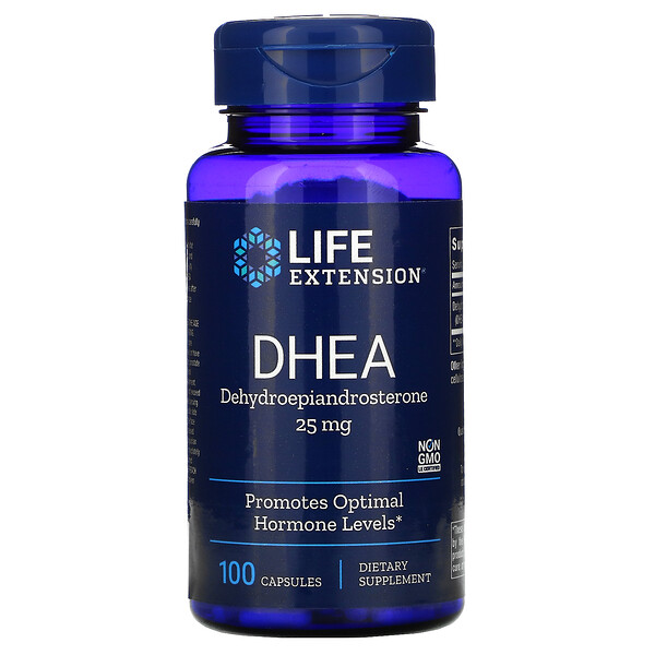 Life Extension, (DHEA),25毫克,100粒